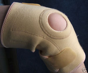 A magnetic knee brace- a common therapeutic application of magnets.