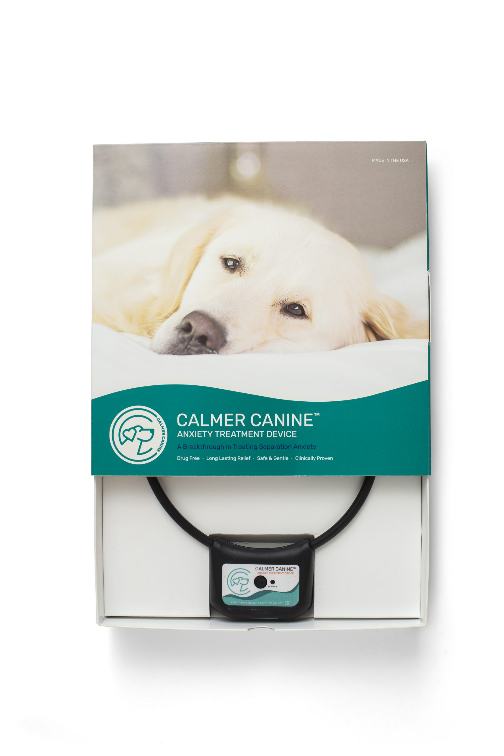 Calmer Canine Device with Package